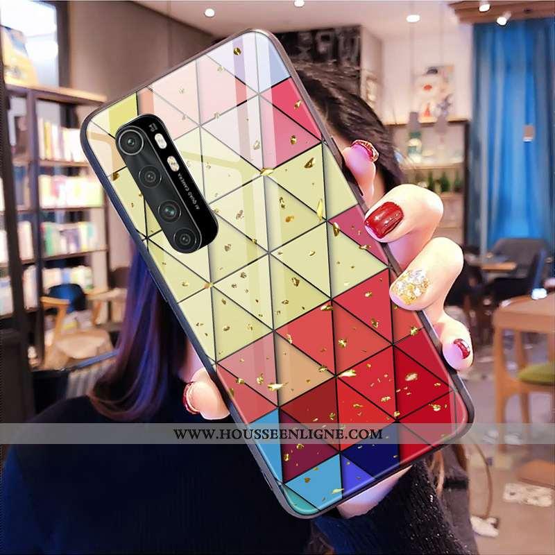 Housse Xiaomi Mi Note 10 Lite Tendance Verre Coque Personnalisé Multicolore Personnalité Jeunesse Co