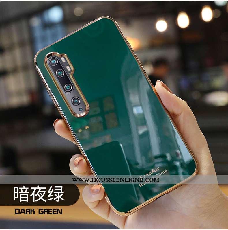 Housse Xiaomi Mi Note 10 Protection Personnalité Mode Tout Compris Nouveau Étui Tendance Verte