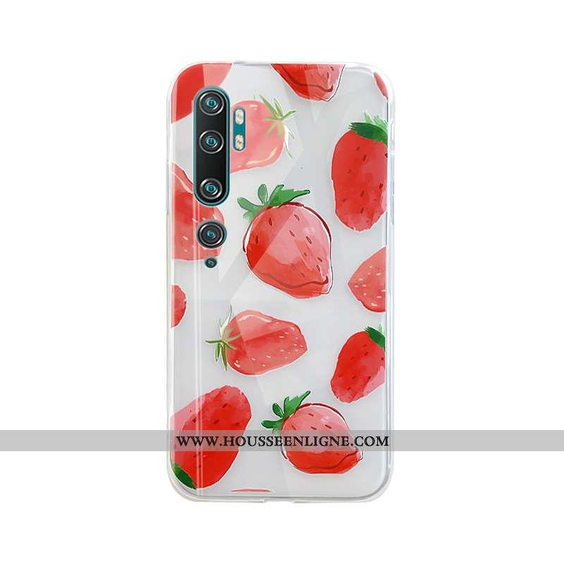 Housse Xiaomi Mi Note 10 Tendance Silicone Téléphone Portable Personnalité Petit Coque Nouveau Rouge
