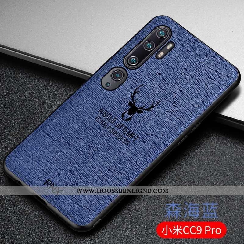 Housse Xiaomi Mi Note 10 Ultra Tendance Bleu Fluide Doux Personnalité Incassable À Bord