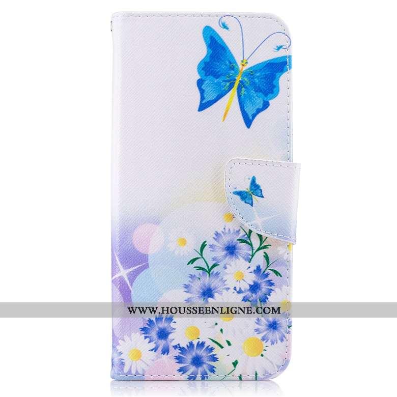 Housse Xiaomi Redmi 5 Cuir Protection Petit Bleu Clamshell Dessin Animé Étui
