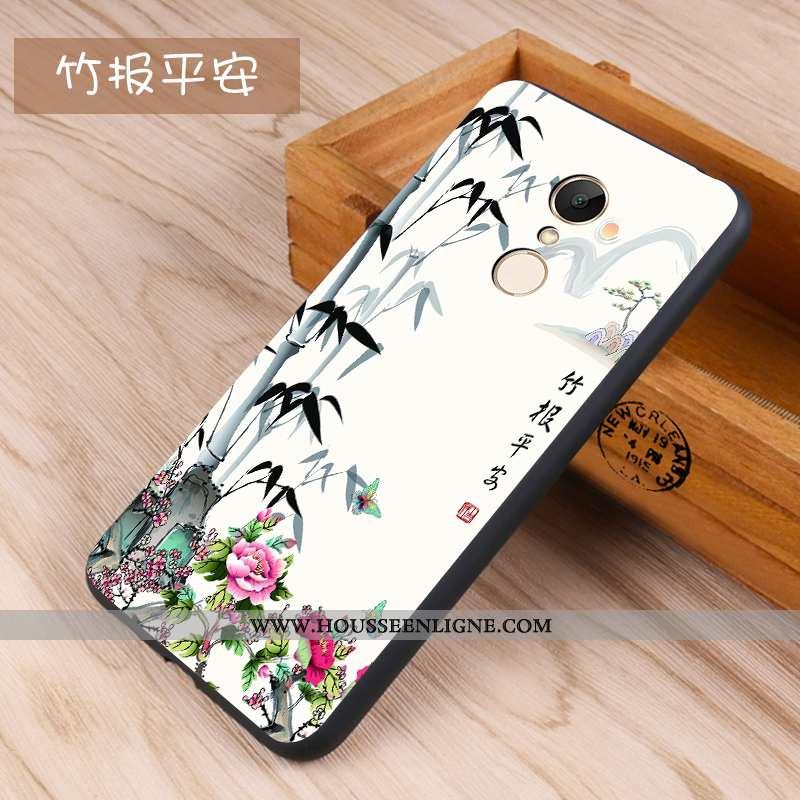 Housse Xiaomi Redmi 5 Délavé En Daim Fluide Doux Coque Téléphone Portable Protection Petit Étui Blan