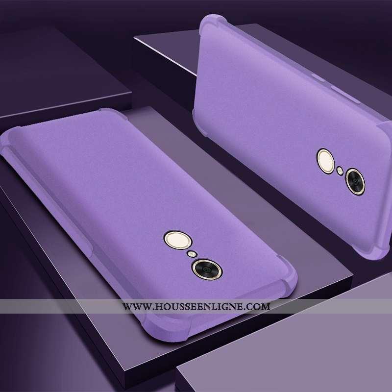 Housse Xiaomi Redmi 5 Silicone Protection Tout Compris Délavé En Daim Étui Rouge Violet