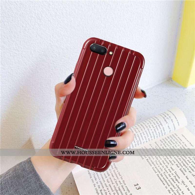 Housse Xiaomi Redmi 6 Créatif Tendance Rouge Mode Silicone Fluide Doux Petit