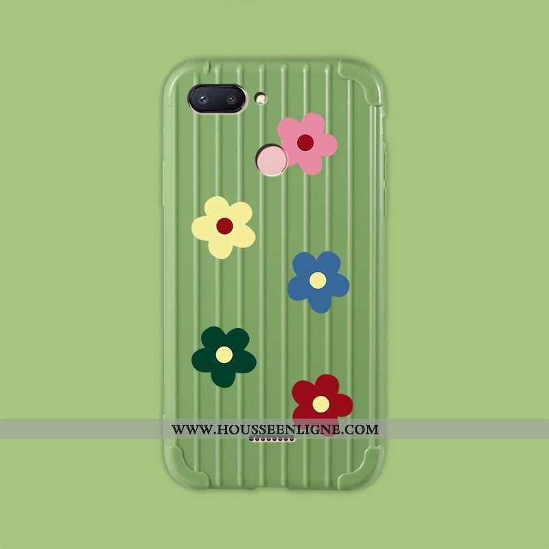 Housse Xiaomi Redmi 6 Fluide Doux Silicone Net Rouge Voyage Amoureux Personnalité Téléphone Portable