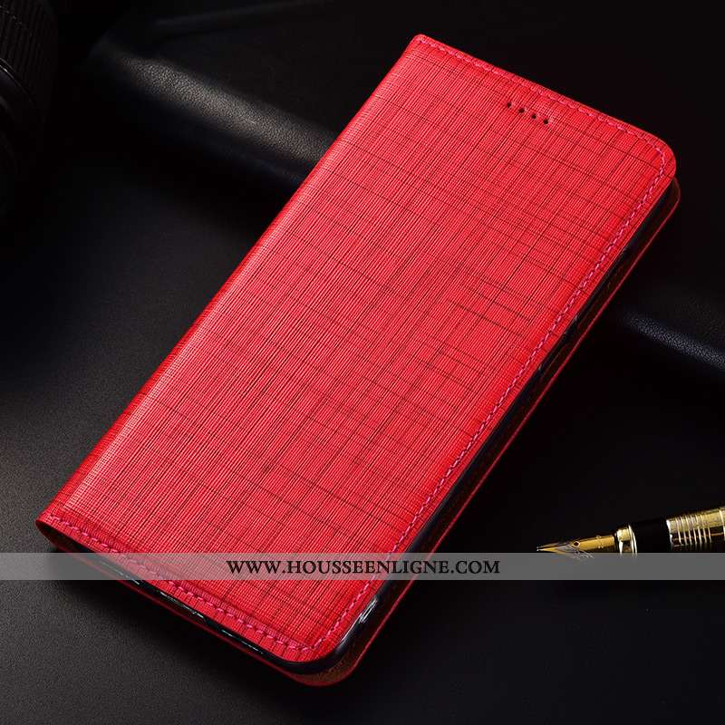 Housse Xiaomi Redmi 6 Silicone Protection Cuir Véritable Incassable Cuir Fluide Doux Nouveau Rouge