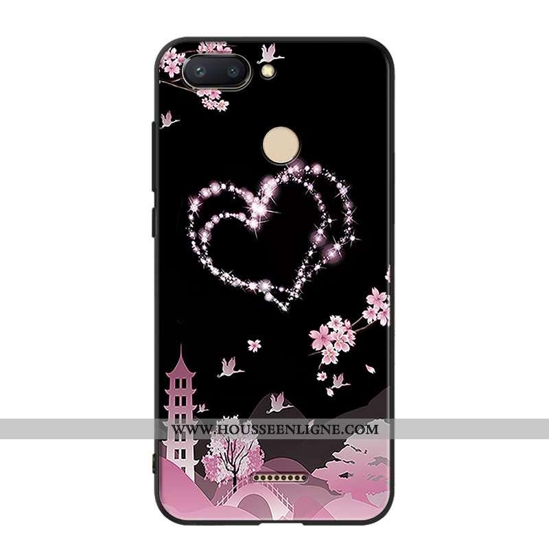 Housse Xiaomi Redmi 6 Silicone Protection Noir Petit Ornements Suspendus Incassable Personnalité