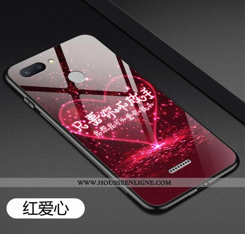 Housse Xiaomi Redmi 6 Tendance Fluide Doux Incassable Rouge Étui Petit Coque