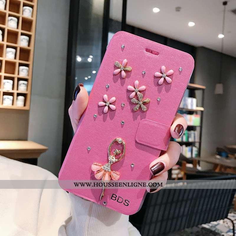 Housse Xiaomi Redmi 6a Tendance Cuir Coque Petit Ornements Suspendus Incassable Protection Rose