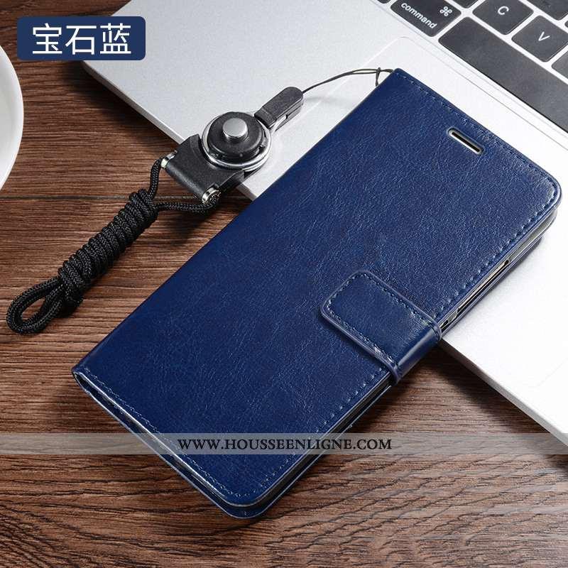 Housse Xiaomi Redmi 7 Protection Cuir Étui Tout Compris Téléphone Portable Silicone Bleu Foncé