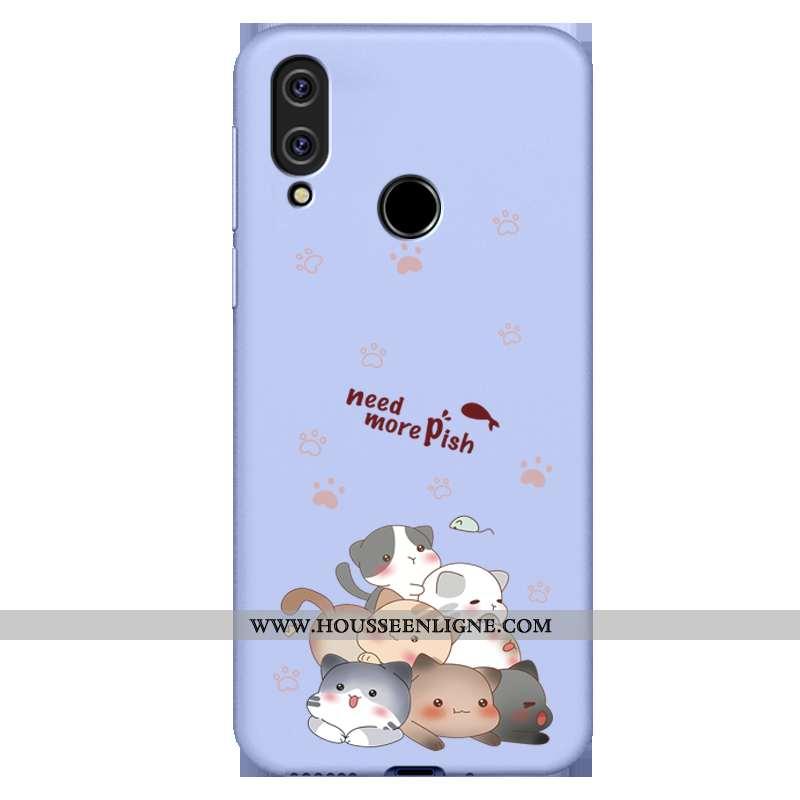 Housse Xiaomi Redmi 7 Silicone Protection Bleu Fluide Doux Étui Ultra Téléphone Portable