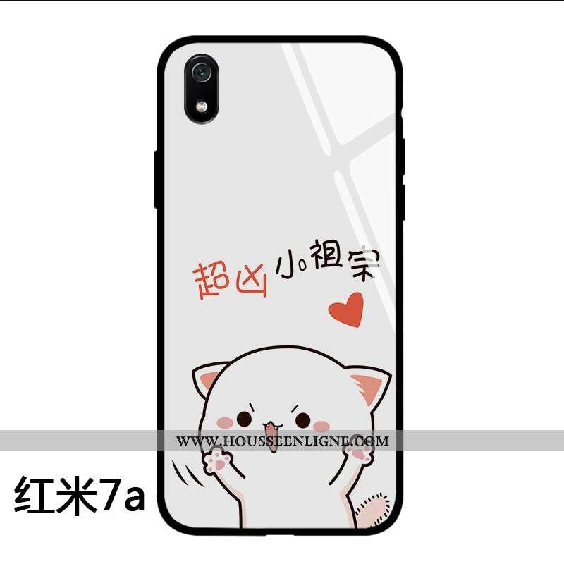 Housse Xiaomi Redmi 7a Charmant Tendance Coque Net Rouge Personnalité Dessin Animé Téléphone Portabl