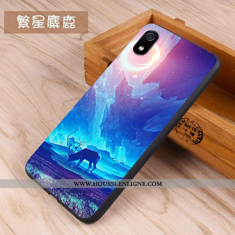 Housse Xiaomi Redmi 7a Créatif Tendance Coque Téléphone Portable Rouge Petit Net Rouge Bleu Foncé
