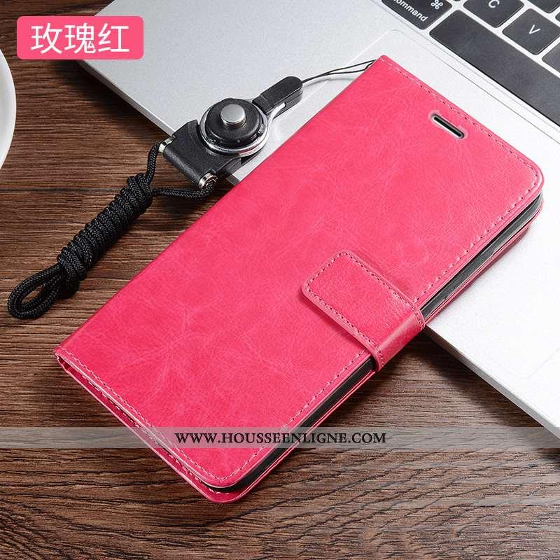 Housse Xiaomi Redmi 7a Cuir Fluide Doux Rouge Téléphone Portable Incassable Silicone Rose