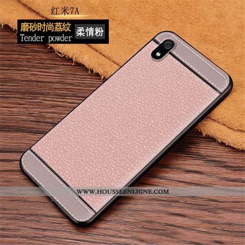 Housse Xiaomi Redmi 7a Fluide Doux Protection Personnalité Rouge Tout Compris Business Rose