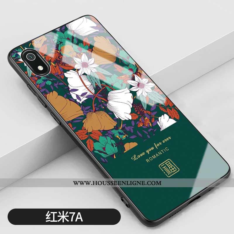 Housse Xiaomi Redmi 7a Silicone Mode Art Net Rouge Tout Compris Miroir Vintage Verte