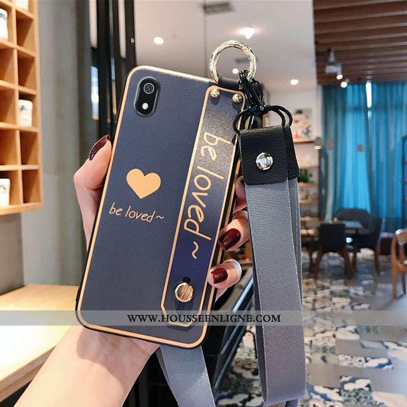 Housse Xiaomi Redmi 7a Silicone Protection Amoureux Téléphone Portable Vintage Coque Tout Compris Gr