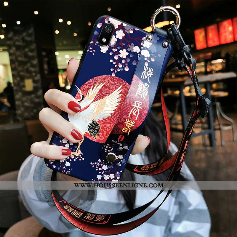 Housse Xiaomi Redmi 7a Tendance Fluide Doux Étui Ornements Suspendus Téléphone Portable Incassable S