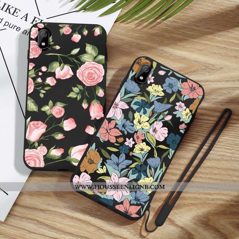 Housse Xiaomi Redmi 7a Tendance Légère Noir Incassable Coque Créatif Mode