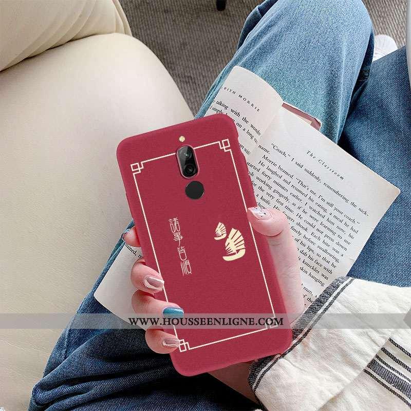 Housse Xiaomi Redmi 8 Délavé En Daim Ultra Fluide Doux Tout Compris De Fête Incassable Nouveau Rouge