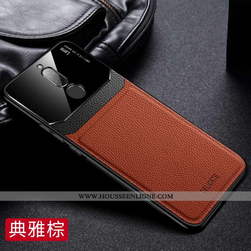 Housse Xiaomi Redmi 8 Fluide Doux Silicone Petit Modèle Fleurie Étui Rouge Téléphone Portable Marron
