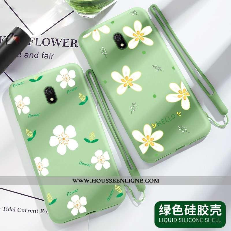 Housse Xiaomi Redmi 8a Légère Fluide Doux Vert Coque Créatif Incassable Tendance Verte