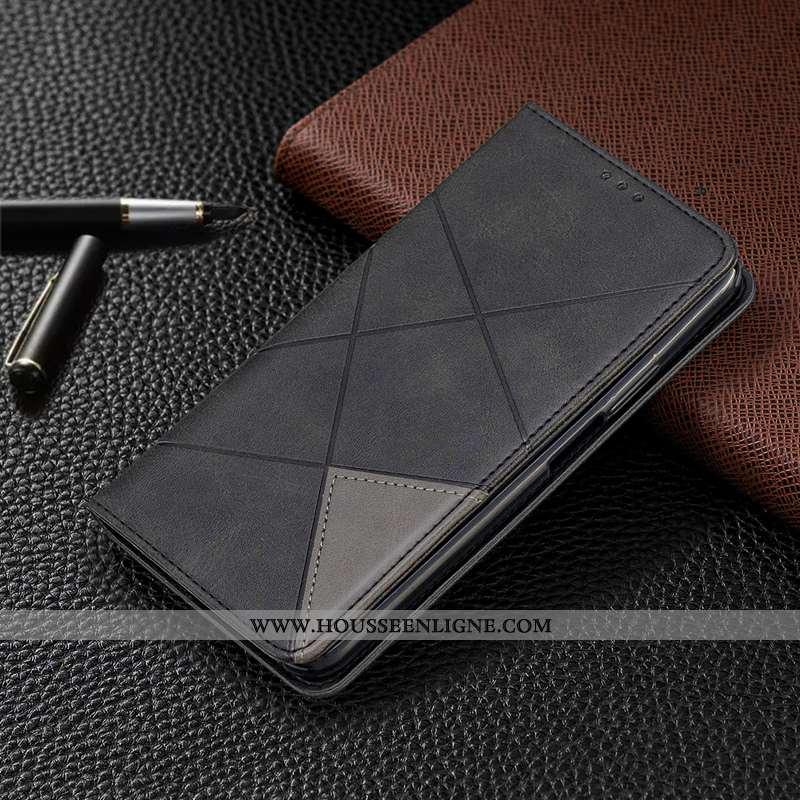 Housse Xiaomi Redmi 8a Protection Portefeuille Tout Compris Cuir Petit Rouge Noir