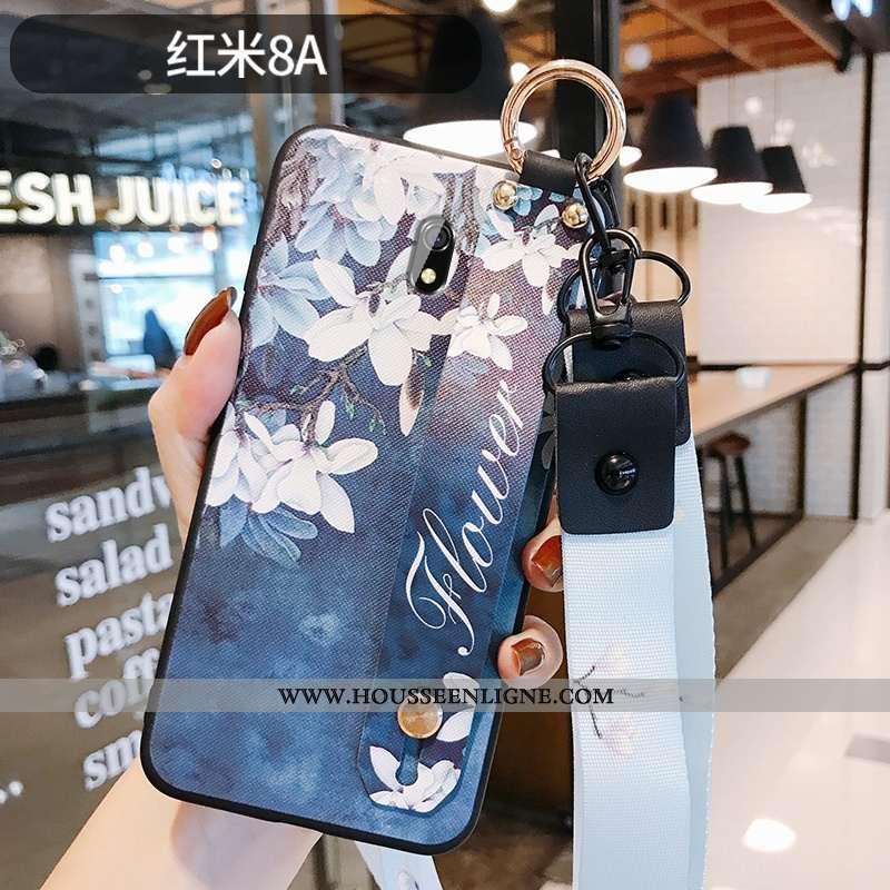 Housse Xiaomi Redmi 8a Silicone Protection Fleur Gaufrage Téléphone Portable Style Chinois Coque Ble