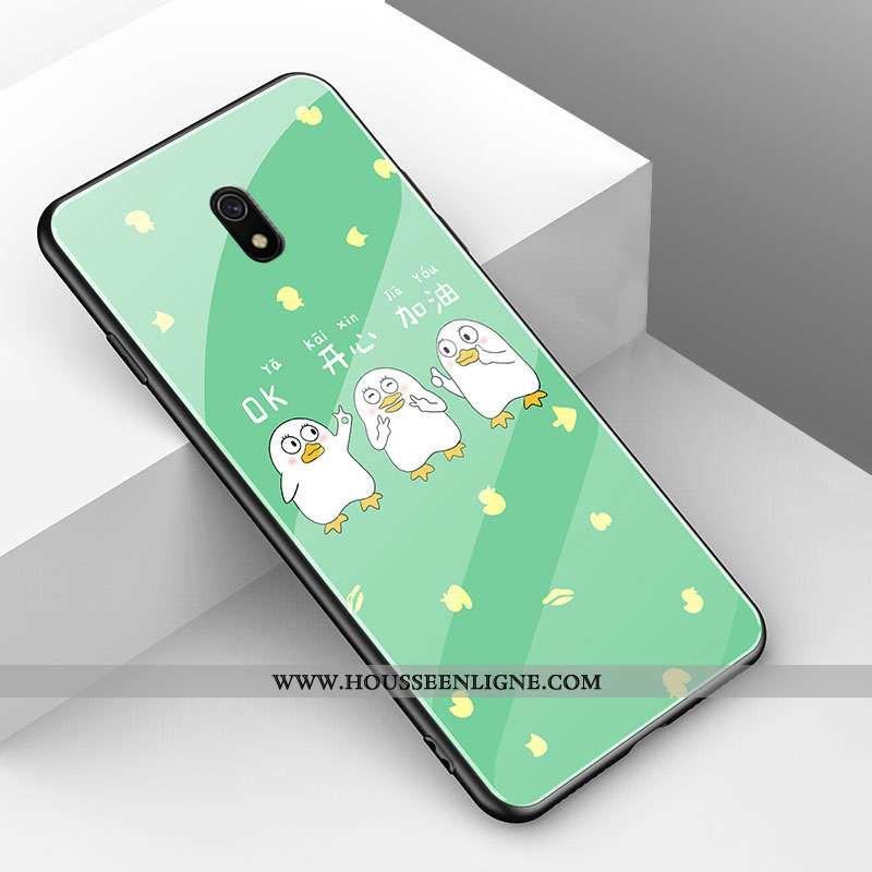 Housse Xiaomi Redmi 8a Tendance Fluide Doux Nouveau Vert Animal Simple Coque Verte