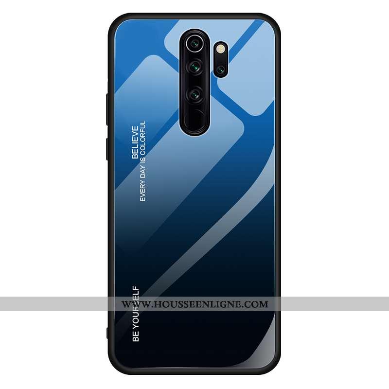 Housse Xiaomi Redmi 9 Créatif Tendance Coque Téléphone Portable Étui Dégradé Net Rouge Bleu Foncé