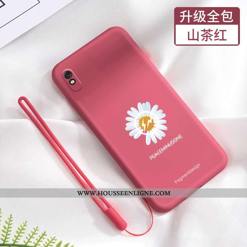Housse Xiaomi Redmi 9a Fluide Doux Silicone Étui Téléphone Portable Délavé En Daim Incassable Tout C