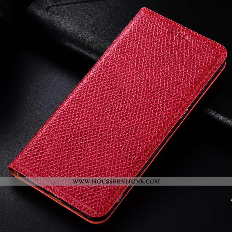Housse Xiaomi Redmi 9a Protection Cuir Véritable Incassable Coque Petit Rouge