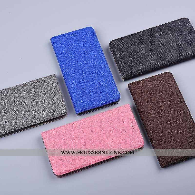 Housse Xiaomi Redmi 9a Protection Petit Étui Bleu Tout Compris Téléphone Portable Lin