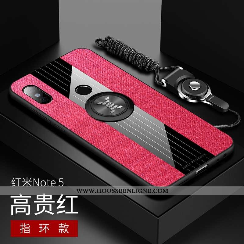 Housse Xiaomi Redmi Note 5 Légère Fluide Doux Verre Créatif Ultra Rouge Étui
