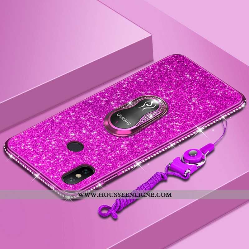 Housse Xiaomi Redmi Note 6 Pro Créatif Tendance Coque Fluide Doux Rouge Tout Compris Petit Rose