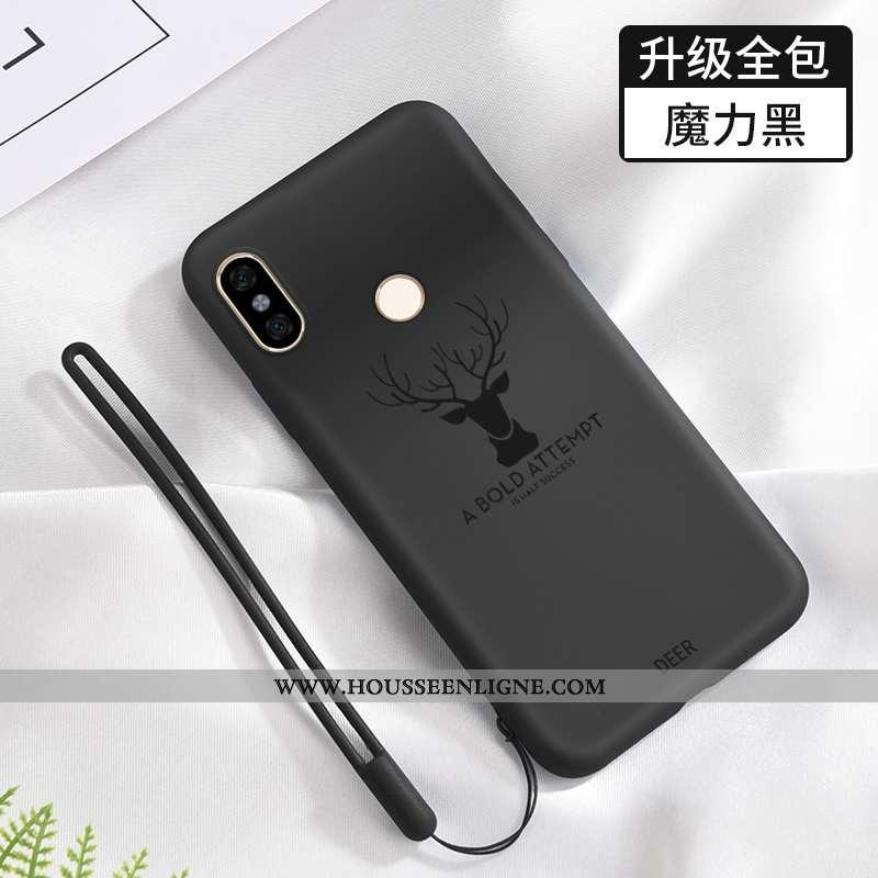 Housse Xiaomi Redmi Note 6 Pro Silicone Protection Incassable Délavé En Daim Étui Téléphone Portable