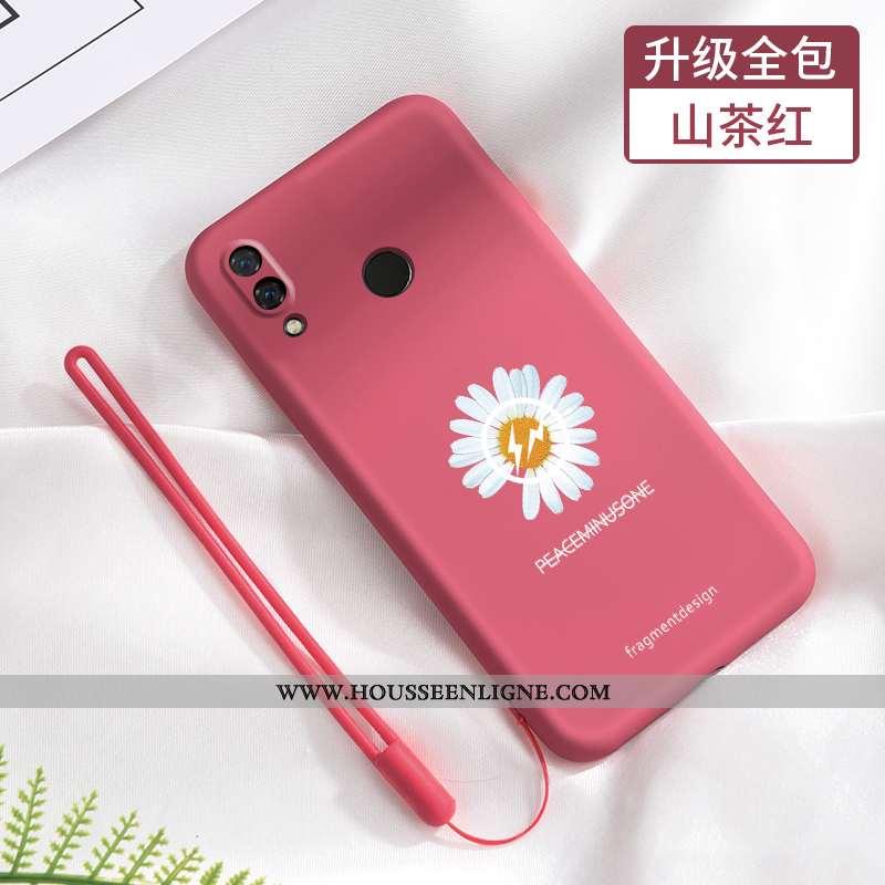 Housse Xiaomi Redmi Note 7 Fluide Doux Silicone Tendance Incassable Rouge Petite Marguerite Téléphon