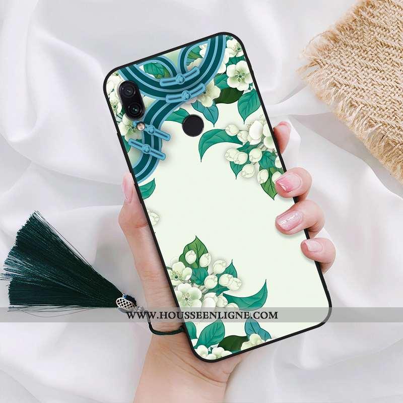Housse Xiaomi Redmi Note 7 Silicone Protection Tout Compris Étui Classiques Pivoine Fluide Doux Vert
