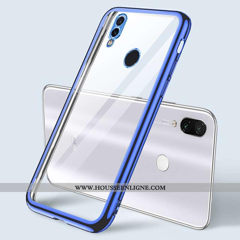 Housse Xiaomi Redmi Note 7 Tendance Légère Personnalité Net Rouge Coque Fluide Doux Bleu