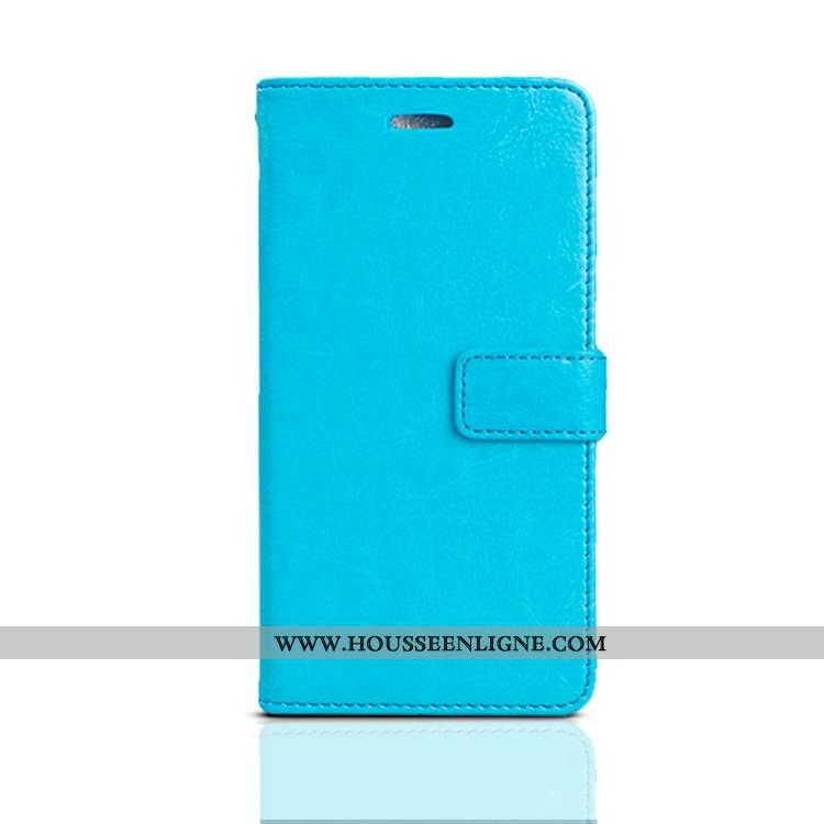 Housse Xiaomi Redmi Note 8 Pro Cuir Fluide Doux Nouveau Petit Téléphone Portable Coque Étui Bleu