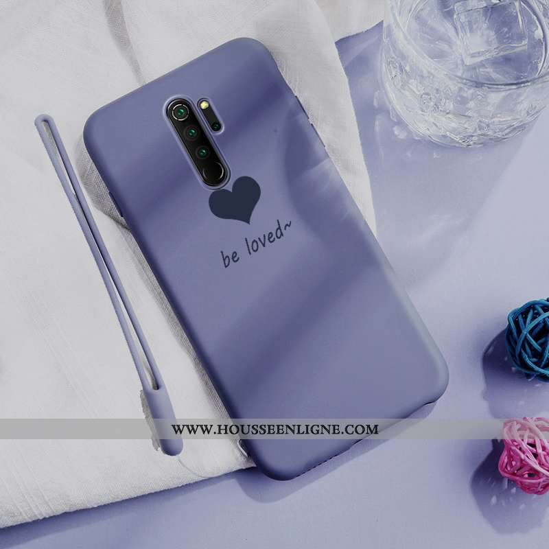 Housse Xiaomi Redmi Note 8 Pro Fluide Doux Silicone Petit Ultra Amour Ornements Suspendus Protection