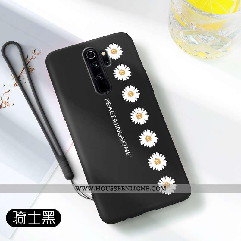 Housse Xiaomi Redmi Note 8 Pro Légère Fluide Doux Étui Simple Tout Compris Silicone Protection Noir