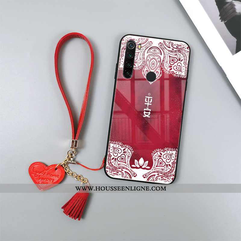 Housse Xiaomi Redmi Note 8t Tendance Fluide Doux Incassable Totem Téléphone Portable Verre Étui Roug