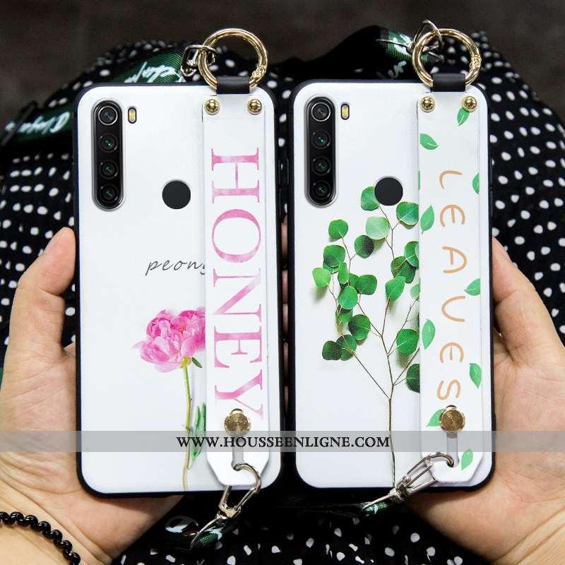 Housse Xiaomi Redmi Note 8t Tendance Fluide Doux Simple Blanc Silicone Incassable Petit Blanche