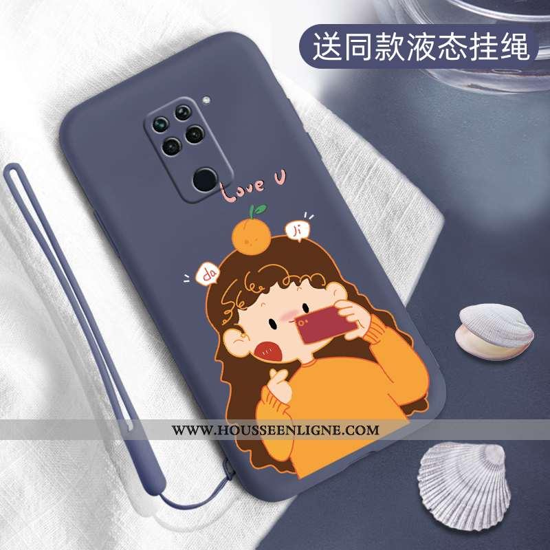 Housse Xiaomi Redmi Note 9 Créatif Fluide Doux Petit Téléphone Portable Silicone Protection Personna