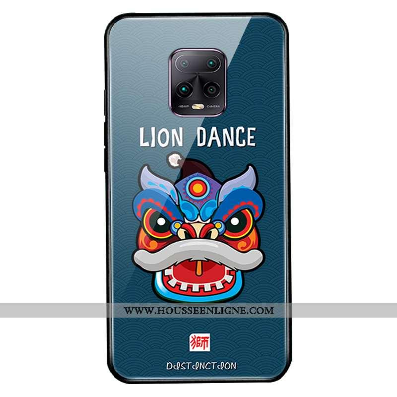 Housse Xiaomi Redmi Note 9 Pro Verre Créatif Coque Téléphone Portable Silicone Étui Dessin Animé Ver