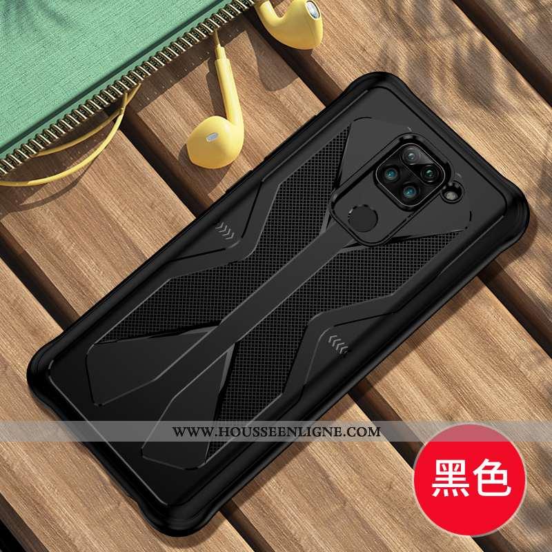 Housse Xiaomi Redmi Note 9 Transparent Personnalité Silicone Petit Créatif Tout Compris Rouge Noir