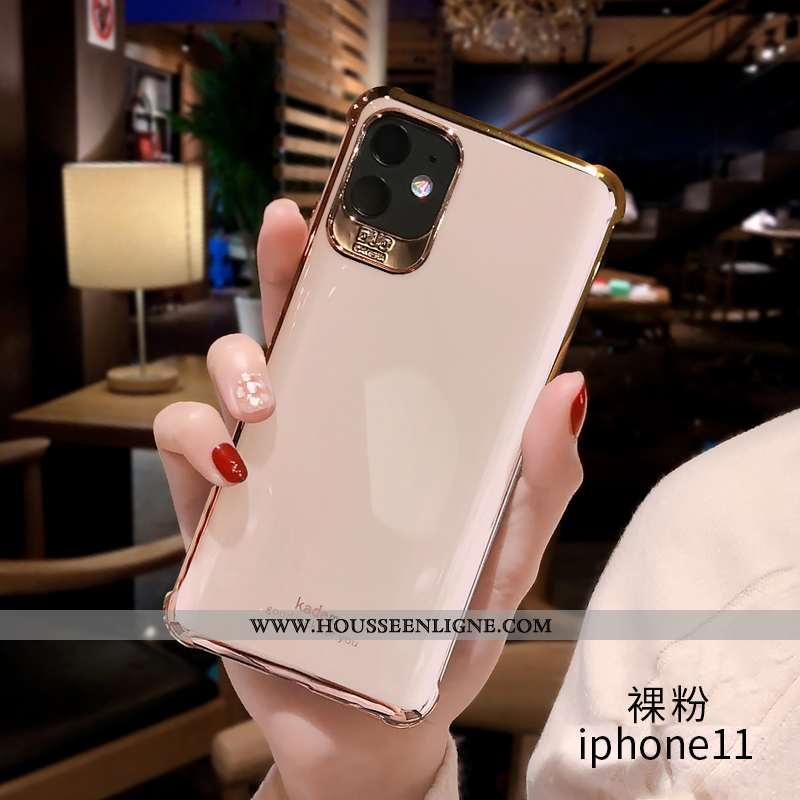 Housse iPhone 11 Luxe Personnalité Coque Luxe Téléphone Portable Net Rouge Tendance Rose