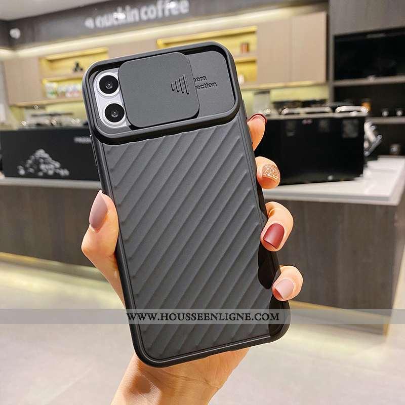 Housse iPhone 11 Mode Protection Créatif Personnalité Incassable Simple Net Rouge Noir