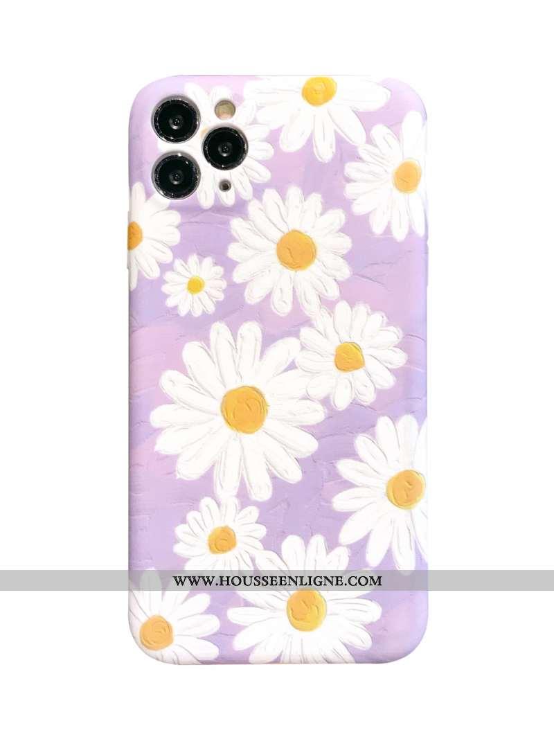 Housse iPhone 11 Pro Fluide Doux Délavé En Daim Tout Compris Violet Incassable Coque Vent
